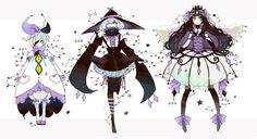 gijinka human version pokemon, litwick, lampent, chandelure