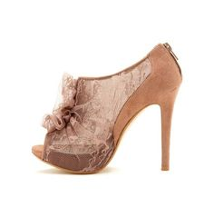 Open Toe Ruffle Pump