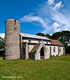 The Church of St Andrew in East Lexham, Norfolk, has the oldest Saxon Tower in England at over 1,000 years old