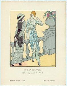 """""""Sur la Terrasse - Robes d'après-midi de Worth"""", Francisco Javier Gosé, 1913; MFA 2004.12.4"""