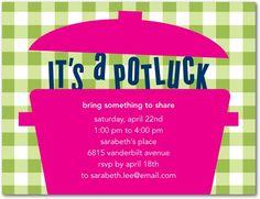 Party Invitations - Potluck Party