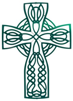 """Artwork by Kevin Fletcher. This elaborate metal wall art features an ornate Celtic knot design. Measurements: 12.75"""" width x 18"""" height Color Finish: Green Crafted by artisans using laser cut metal wi"""