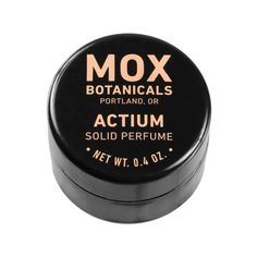 Solid Perfume Mox Botanicals solid perfumes are handcrafted using only the highest quality essential oils and absolutes from around the world. These scents are captured with a base of organic jojoba oil, fractionated coconut oil, Oregon beeswax, and Vitamin E. Like all Mox Botanicals products, black plum & fig lip butter contains no parabens, sulfates, chemical preservatives or synthetic fragrances.