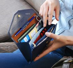 Envelop Multifunction strap  wallet with slots by TheWalletWorld, ill take it in black please!