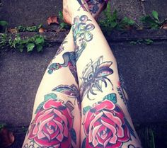 Big-Bootied Tattooed Cuties  roses
