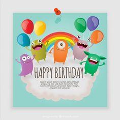 monsters-birthday-card_23-2147531371.jpg (626×626)