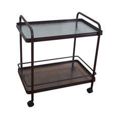 Image of Brown Jordan Tamiami Aluminum Patio Serving Cart