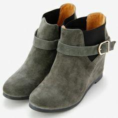 Wedge side gore short boots / ShopStyle(ショップスタイル): Beauty&youth United Arrows(ビューティー アンド ユース ユナイテッド アローズ) BYSF サイドゴアベルトウェッジショートブーツ  - shopstyle.co.jp