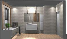 Praca konkursowa z wykorzystaniem mebli łazienkowych z kolekcji KWADRO PLUS #naszemeblenaszapasja #elitameble #meblełazienkowe #elita #meble #łazienka #łazienkaZElita2019 #konkurs Master Bathroom, Bathroom Lighting, Divider, Mirror, Furniture, Design, Home Decor, Bathroom Light Fittings, Bathroom Vanity Lighting
