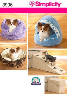 Simplicity : 3906 - the top left-hand photo - the dog bed sack.  Saw it at a craft show and it would be perfect for our girls.