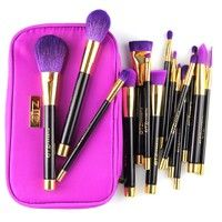 Specification (1).15pcs makeup brush set 1.Powder Brush,  2.Blusher Brush, 3.Duo-Fiber Buffing Brush