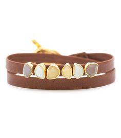 Daphne Leather Double Wrap bracelet