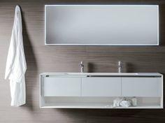Móvel lavatório lacado suspenso de madeira com gavetas Coleção Shape Evo by FALPER | design Michael Schmidt
