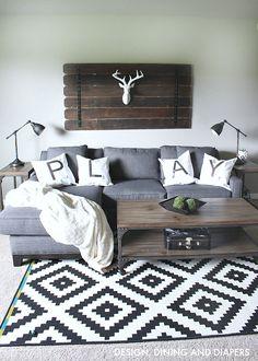 Cushions for playroom sofa