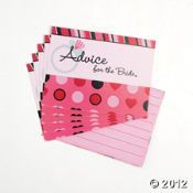 """Love """"Advice for the bride"""" and """"Advice for mom-to-be"""" cards for bridal and baby showers! So much fun to turn it into a little game with prizes as well!"""