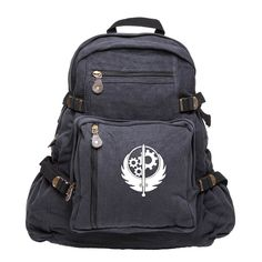 Fallout Brotherhood of Steel Army Sport Heavyweight Canvas Backpack Bag ** Insider's special review you can't miss. Read more  : Travel Backpack