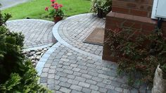 Circular Block Paving Steps and Garden Landscaping Path in Worsley Manchester - Landscape Juice Network