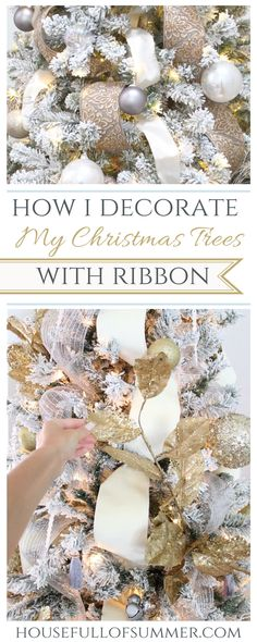 How I Decorate My Christmas Tree with Ribbon
