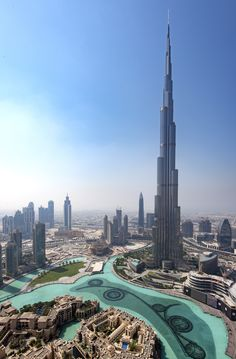 There's an unobstructed view of the Burj Khalifa, the tallest building in the world. Beautiful Homes, Beautiful Places, Dubai Houses, Penthouse For Sale, Downtown Hotels, Window View, Pent House, Burj Khalifa, Architectural Digest