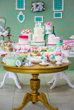 French Patisserie Baking Themed Birthday Party via Kara's Party Ideas : Set ups