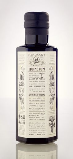Packaging of the World: Creative Package Design Archive and Gallery: Hendrick's Quinetum