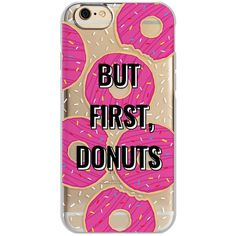 Agent18 Shockslim iPhone 6/6S Case ($15) ❤ liked on Polyvore featuring accessories, tech accessories, phone, phone case, but first donuts and agent 18
