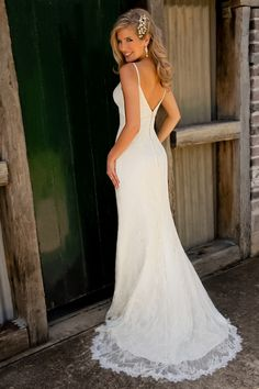 H7952 fishtail gown by Halo Bridal $2072 - back