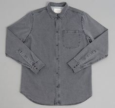 """ABACO"" SHIRT, WASHED GREY :: HICKOREE'S"
