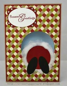 Season's greetings with Santa's butt card