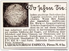 Original-Werbung/ Anzeige 1941 - DR.HOWES AUGENTINKTUR / MOTIV AUGE / LABOR…