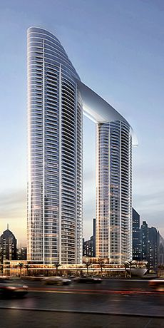 THE ADDRESS RESIDENCES SKY VIEW IS A STRIKING HOTEL, RESIDENCE, AND SERVICED APARTMENT TWIN-TOWER COMPLEX