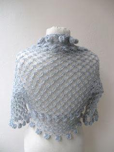Knitting And Beading Wedding Bridal Accessories and Free pattern: Shrug bolero jacket with flower brooch-light grey mohair-weddings bridal bridesmaids bride fashion-spring summer