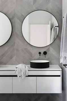 Mirror Bathroom Modern Best Of Chevron Modern Grey Tile Bathroom Wall Ideas Bathroomtileideas Neutral Bathroom Tile, Grey Bathrooms, Laundry In Bathroom, Budget Bathroom, Bathroom Renovations, Modern Bathroom, Bathroom Ideas, Bathroom Designs, Master Bathroom