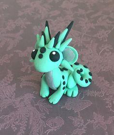 Polymer Clay Dragon Sculpture Figurine Mini by CatherineBradlyArts