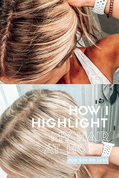 Diy Hair At Home, Tone Hair At Home, Highlighting Hair At Home, Highlight Your Own Hair, Diy Hair Foils, Home Highlights Hair, Foil Highlights, Box Hair Dye, Hair Color Formulas