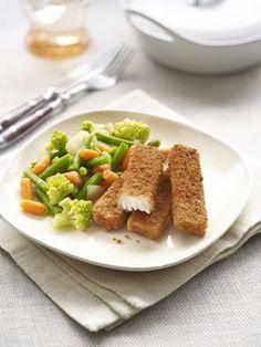 Fish Sticks Blé Complet au Steamfresh Provence Mix Provence, Fish Sticks, Chicken, Fruit, Vegetables, Food, Bon Appetit, Essen, Vegetable Recipes