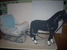 "Horse and Sleigh for 18"" Doll Fits American Girl, Evangeline G. by Enertec Enterprises |"