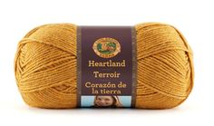 Heartland, is a sensationally soft, premium acrylic yarn that comes in 16 stunning shades inspired by the natural beauty of the American landscape. This easy-care yarn is made in America! Crochet Motif, Crochet Yarn, Knitting Yarn, Free Crochet, Crochet Patterns, Yarn Thread, Yarn Stash, Lion Brand Yarn Studio, Heartland