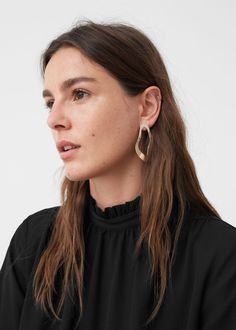 Boucles d'oreilles métalliques | MANGO