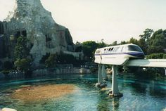 Disneyland 1988 Monorail passing over the Submaraine Lagoon