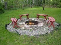 fire pit circle with stepping stone path | backyard ideas ...
