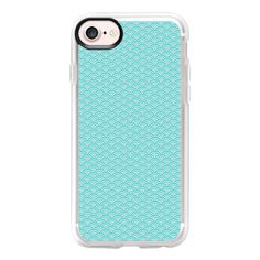 Turquoise for summer - iPhone 7 Case And Cover ($40) ❤ liked on Polyvore featuring accessories, tech accessories, phone cases, iphone case, clear iphone case, iphone cover case, iphone cases and apple iphone case