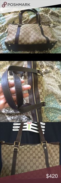 Authentic Gucci Bag I'm cleaning my closet and I don't need this anymore, I wanna buy a new one. This is authentic and the dust bag is included. Feel free to message me when you have a question on it. Gucci Bags Shoulder Bags