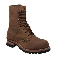 This 9 inch brown color crazy horse leather logger boot has rubber outsole for dependable traction and goodyear welt construction. This purposeful, yet comfortable logger footwear will help you get through a tough's day work! Leather Men, Brown Leather, Logger Boots, Crazy Man, Steel Toe Work Boots, Goodyear Welt, Crazy Horse, Fashion Shoes, Mens Fashion
