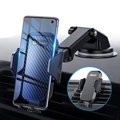 [Multi-function Cell Phone Holder] 3 in 1 multiple functions car phone made with aeronautical PTFE can be mounted on dashboard windsh Smartphone Car Mount, Iphone Car Mount, Cell Phone Car Mount, Car Cell Phone Holder, Car Holder, Mobile Holder For Car, Dashboard Car, Bluetooth, Used Mobile Phones