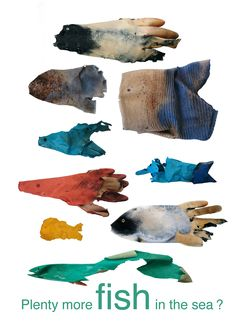 A project to highlight plastic pollution in the ocean, sea and on beaches. This particular part of the campaign is about fishermen's gloves. These gloves were beachcombed from Tangleha, Scotland.