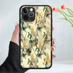 Flower wallpaper phone case cover 202 Black (Apple Models Only) - 1