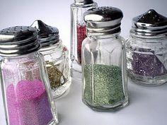 Salt  & pepper shaker glitter storage