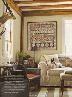 Country homes always need taxidermy on the walls!