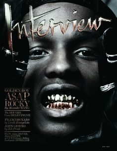 The Best Magazine Covers of 2013: Best In-Your-Face Cover - Interview April  A$AP Rocky and his grill boldly graced the cover of Interview's April issue. It couldn't be any more different than your typical fashion-y celeb glamour shot, but that's exactly why we love it.